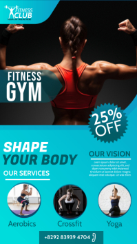 Fitness | Gym | Sports Center Advert Instagram Story template