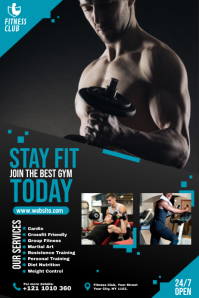 Fitness | Gym | Sports Center Advert Spanduk 4' × 6' template