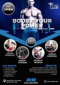 Fitness   Gym   Sports Center Advert A4 template
