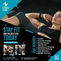 Fitness | Gym | Sports Center Video Advert Post Instagram template