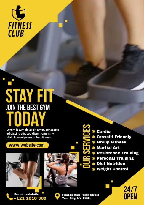 Fitness | Gym A4 template
