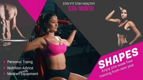 Fitness and Gym Ad Facebook Cover Video