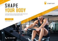 Fitness Banner Template Postcard