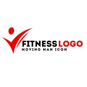Fitness black and red logo template