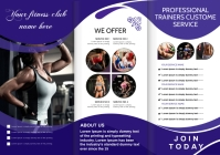fitness brochure A4 template