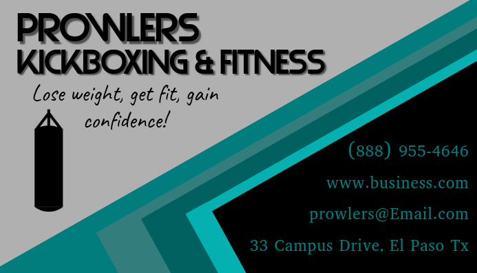 Fitness business card template postermywall fitness business card customize template fbccfo Images