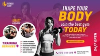 Fitness Center Ad Twitter Post template