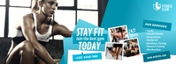 Fitness Center Ad Facebook-coverfoto template