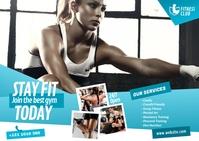 Fitness Center Ad Poskaart template