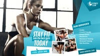 Fitness Center Ad Twitter 帖子 template