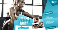 Fitness Center Ad Facebook Shared Image template