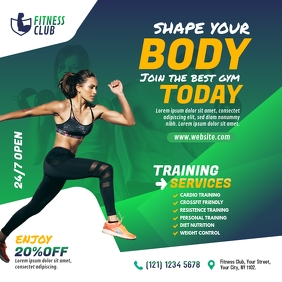 Fitness Center Ads Сообщение Instagram template