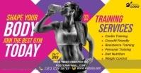 Fitness Center Advert Gambar Bersama Facebook template