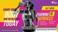 Fitness Center Advert Twitter Post template