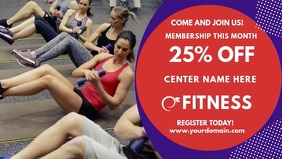 Fitness Center Advert Facebook Cover Video