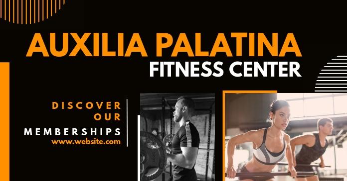 fitness center facebook advertisement Facebook-advertentie template