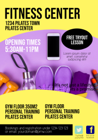 Fitness Center Flyer Poster Opening Time Gym