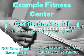 fitness center poster template