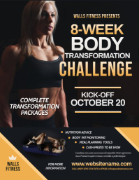 Fitness Challenge Flyer Pamflet (Letter AS) template