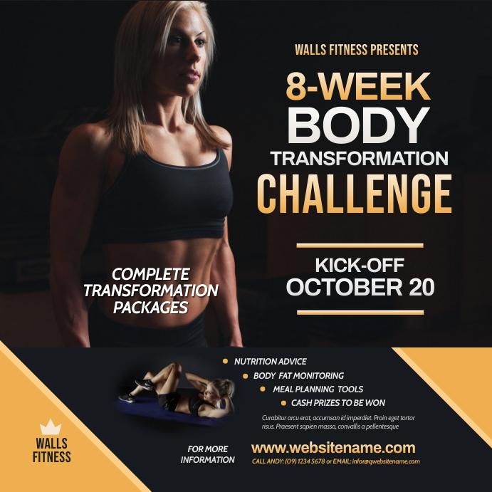 Fitness Challenge Instagram Post template