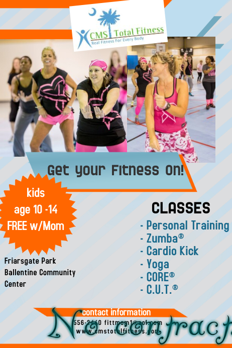 Fitness Class Flyer Template PosterMyWall
