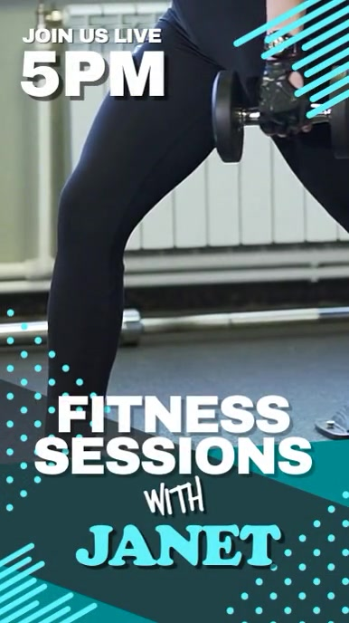 Fitness class virtual Instagram Story template