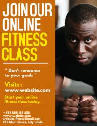 fitness classes online flyer advertisement