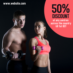 Fitness Clothing and Membership Instagram