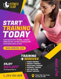 Fitness Club Ad Ulotka (US Letter) template