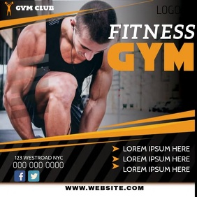 FITNESS CLUB AD SOCIAL MEDIA TEMPLATE Square (1:1)