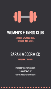 Fitness business card templates postermywall fitness club business card colourmoves Images