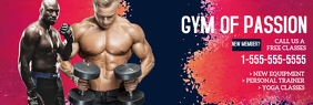 Fitness Club LinkedIn-banner template