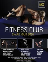fitness club flyer, gym advertisement flyer