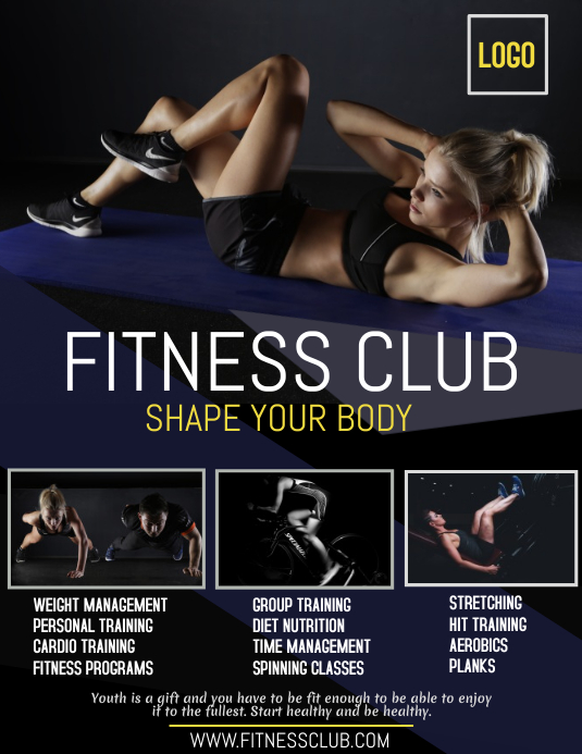 fitness club flyer, gym advertisement flyer