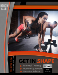 fitness club flyer, Gym flyer, workout flyer