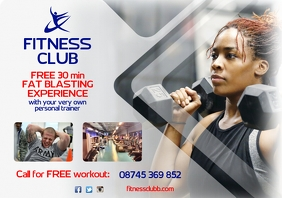 Fitness Club Flyer A4 template