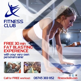 Fitness Club Instagram Advert