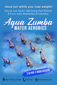 Aqua Zumba Water Aerobics Template