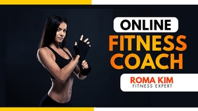 fitness coach youtube thumbnail template