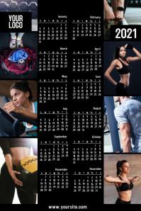 Fitness company calendar 2020