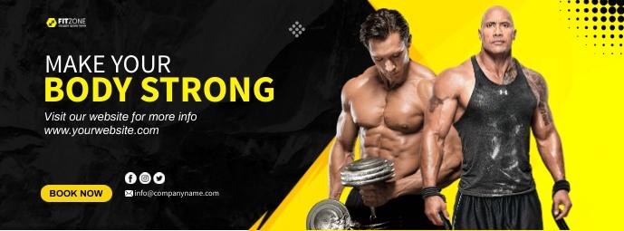 Fitness Cover รูปภาพหน้าปก Facebook template
