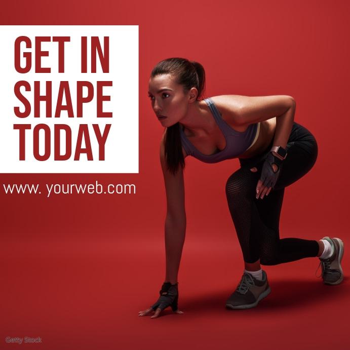 fitness Publicação no Instagram template
