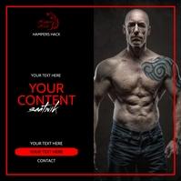 fitness Сообщение Instagram template