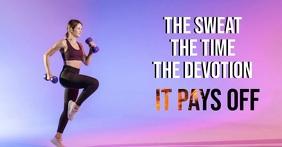 Fitness Imagen Compartida en Facebook template