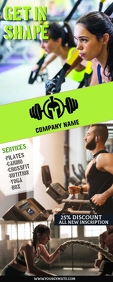 fitness Banner Roll Up 2' × 5' template