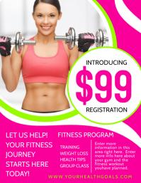 fitness Flyer (US Letter) template