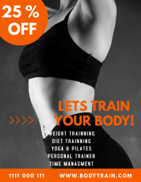 fitness Flyer (format US Letter) template