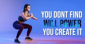 Fitness Obraz udostępniany na Facebooku template