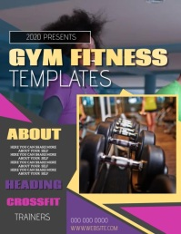 FITNESS EVENT FLYER POSTER TEMPLATE