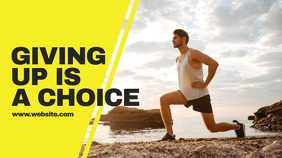 Fitness Exercise YouTube Channel Cover Photo template